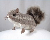 DISCONTINUED KIT- Felted Wool Squirrel Softie for you to stitch- brown fair isle