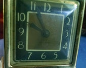 Tiny Vintage Brass Alarm Clock New Haven