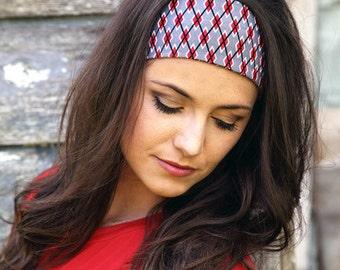 Funky Headbands, Colorful Headbands, Modern Headbands, Trendy Headbands, Funky Head Bands, Red Headband, Geometric Print Headbands for Women