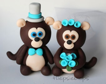 Custom Monkey Wedding Cake Topper