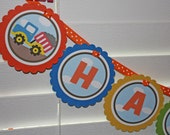 BIG TRUCKS Birthday Banner / Trucks Birthday Banner / Transportation Banner / Trucks Birthday Party / Big Trucks Birthday Party / Any Color