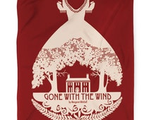 Gone With the WInd, Fleece Blanket, Printed in USA