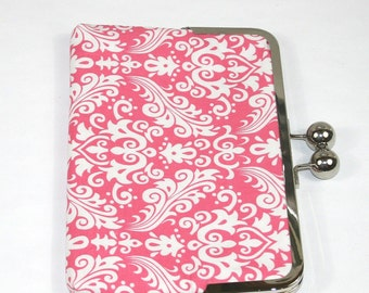 Pink iPad Mini Case, Girly iPad Mini Cover,Custom gift for her, Pink Kindle Case, Nook Cover, Samsung Galaxy Case - Pink Damask