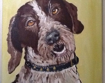Bernie Dog Original Painting Pet Portrait
