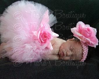 Pink Tutu, Photo Prop Tutu, Custom Sewn Tutu and Headband Set, Lovey Dovey, Valentine's Day Tutu Skirt for Girls Babies Tweens