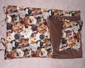 Handmade Sleeping Bag (Dogs) fits 18 inch Doll Like American Girl