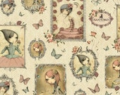 NEW Mirabelle, Cream Girl Patches, from Quilting Treasures, yard