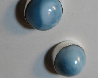 Larimar Post Earrings ....... Sterling Silver ................    E761
