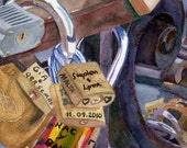 Customize Watercolor prints Locks of Luck Europe Florence Italy