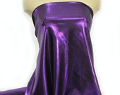 Mystique Spandex Fabric DEEP PURPLE gymnastics, skating dress, dance, cheer bows, costume , pageant swimwear