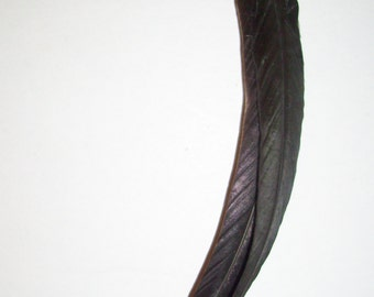 Single Feather Earring/Black/Natural Iridescent/Onyx