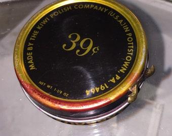 Vintage Kiwi Shoe Polish Tin