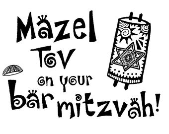 Bar Mitzvah cards
