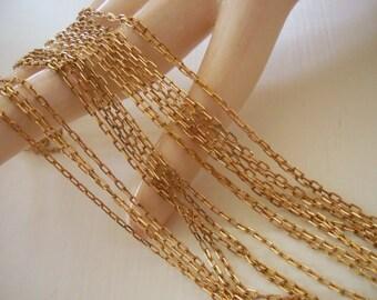 Vintage Delicate Brass Chain