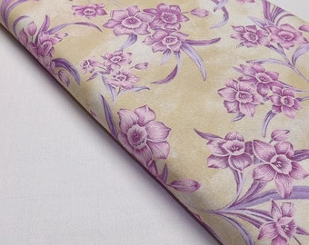 Northcott Flower of the Month 2061-1 December Narcissus Floral Quilting Fabrics