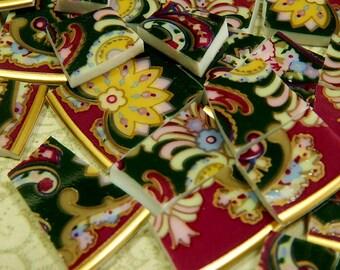 Mosaic Tiles ~ PAiSLEY RoSES ~100 China Mosaic Tiles