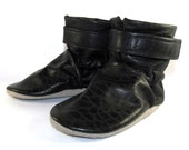 Soft Sole Black Leather Baby Boots Shoes 18 to 24 Month