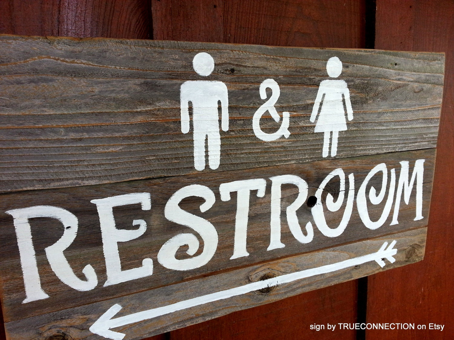 Rustic Restroom Sign Wedding Signs Outdoor Bathroom Sign
