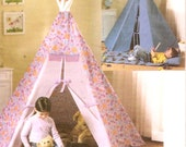 Childs Play Teepee and mat Boho play adventure tent decor sewing pattern Butterick 4251 Childrens Room decor UNCUT