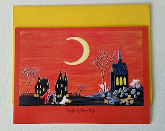 """Halloween frame-able greeting card """"Fright of your Life"""""""