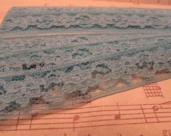 Vintage Cruise Blue Lace- 3 Yards