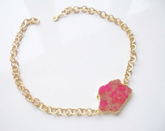Unique Special Pink colored Turquoise necklace