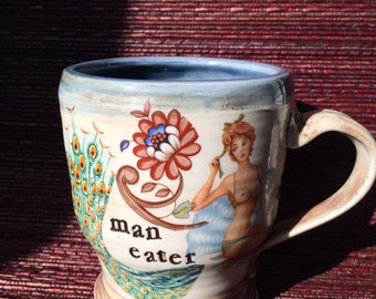Man Eater Pin Up Mug