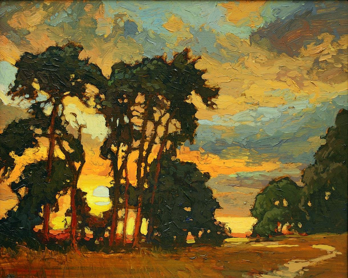 Mission Arts And Crafts Craftsman Sunset Giclee Fine Art