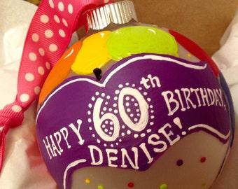 Commemorative, milestone personalized birthday ornament