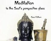 Meditation quote photos, Buddha Head photography, Zen Decor, Spiritual Typography Print, Yoga Art, Asian Art, Neutral Decor, Zen Home Decor