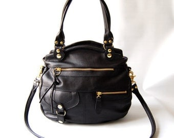 Okinawa bag in black - gold tone hardware