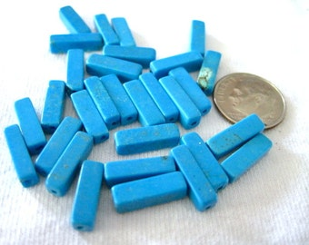 Howlite Turquoise Blue Square Tube Beads Supply