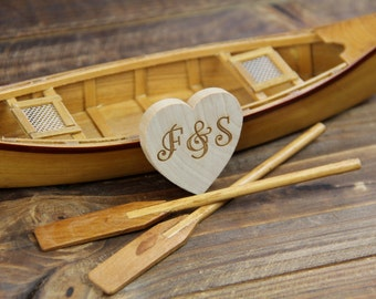 Canoe-boat-wedding-cake topper-rustic-fishing-woodland-fisherman-row boat-bride-groom-Mr and Mrs-country-hunting-