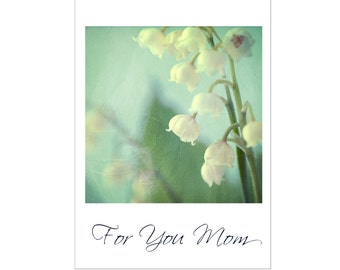 Lily of the Valley Card, Flower Greeting Card, For You Mom, Blank Photo Card