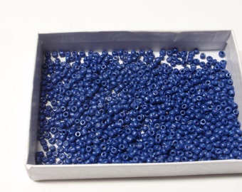 Dark blue tiny seed beads