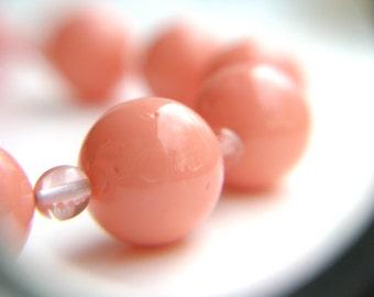 Pink Coral Bracelet . Pink Quartz Bracelet . Light Pink Bracelet . Simple Beaded Bracelet . Girly Jewelry - Dharma Collection