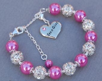 New Mother Jewelry, It's a Girl Charm Bracelet, New Mom Bracelet, New Baby Jewelry, New Mom Gift, New Mother Jewelry, Gift for New Mom