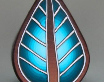 Teal Polymer Clay Leaf Cane -'Enchanted Forest' (30dd)