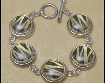 Silverplate Exotic Vintage Bracelet with patina by Best Co.