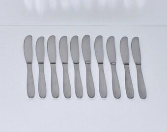 Vintage Gense Sweden Ellips Stainless Knives Flatware, Set of 10