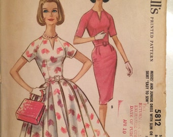 Adorable Vintage 1961 McCall's 5812 Size 10 Bust 31