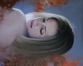 The Mood original oil classical portrait narrative figurative painting by Kimberly Dow
