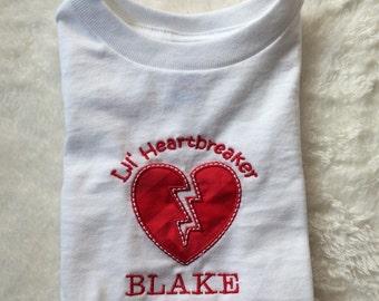 Lil Heartbreaker Valentine's Day Applique T-Shirt