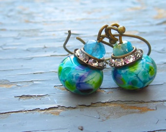 Gorgeous lamp work handmade earrings, choose your color