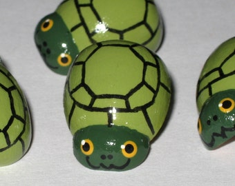 Hand PaintedTurtle Tortoise Push Pins for Bulletin Board
