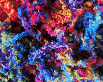 Colorful Festive Cotton Fibers For Papermaking,Collage, 2 Oz. Ships Worldwide