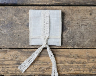 Pack of 10: White Linen USB Pouch