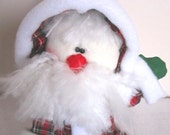 Santa Claus is Coming - Handmade Primitive Santa Claus Christmas Doll - Soft Sculpture Santa Doll Shelf Sitter christmas Decoration
