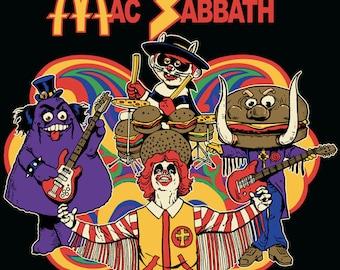 Mac Sabbath T-shirt Mens and ladies