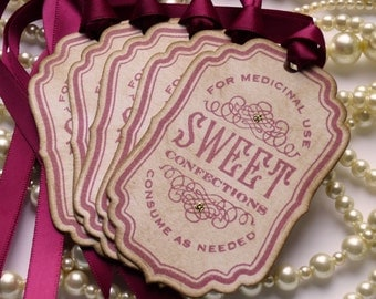 Marsala Wedding Favors, Wedding Favor Tags, Candy Buffet Tags, Bachelorette Party Favors, Gift Tags, Candy Buffet Labels, Code S1